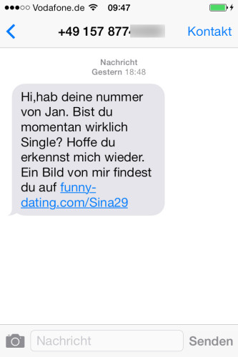 Richtig flirten per SMS: So geht's