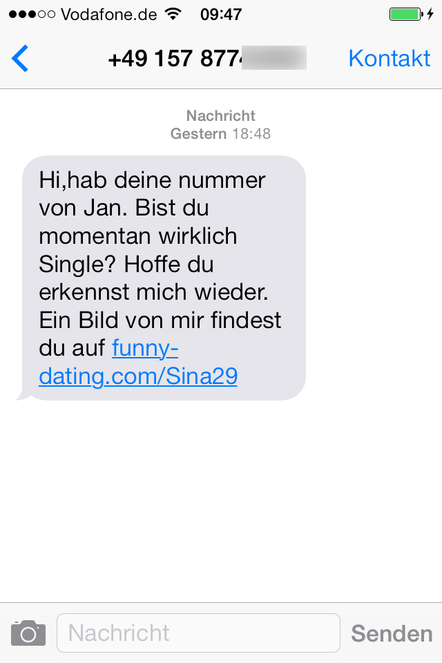Single frauen handynummer